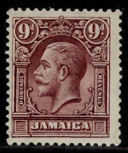 JAMAICA GV SG110, 9d maroon, M MINT.