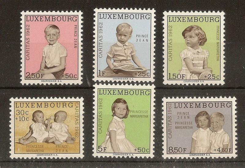 Luxembourg 1962 Caritas SG710-715 MNH