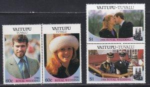 Tuvalu - Vaitupu # 65-66, Prince Andrew Royal Wedding, NH, 1/2 Cat.