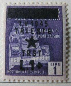 Italy Yugoslavia Italia Occ. Jugoslava Trieste 1945 1L su 1L MH* A13P1F517