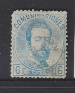 Spain a used 6c from the 1872 set