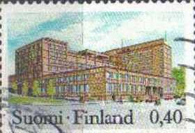 FINLAND, 1972, used 40p, Post Office, Tampere
