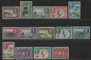 $Nyasaland Prot. Sc#68-81 M/H/VF, complete set, Cv. $96.80