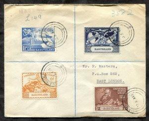 p165 - BASUTOLAND 1949 UPU Set on Registered Cover