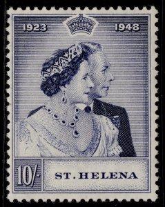 ST. HELENA GVI SG144, 10s violet blue SILVER WEDDING, M MINT. Cat £28.