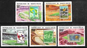 Burkina Faso #456-460 set complete (CTO) CV $2.20