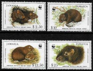 Jamaica #857-60 MNH Set - WWF - Jamaican Hutia