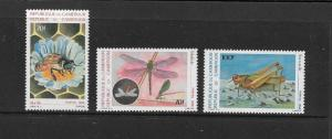 BEE & INSECTS - CAMEROON #807-09  MNH