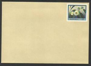 Australia Flowers Unused Postal Envelope