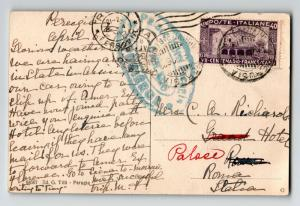 Italy 1926 Postcard / Palace Hotel Date Stamp - Z13419