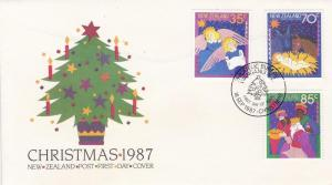 New Zealand # 880-882, Christmas Cards, 1st Day