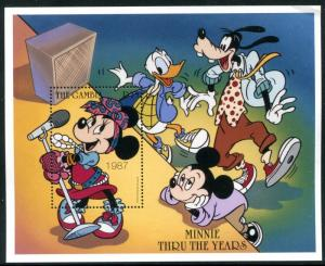 Gambia MNH, Disney Minnie Mouse thru the years 1987. x14392