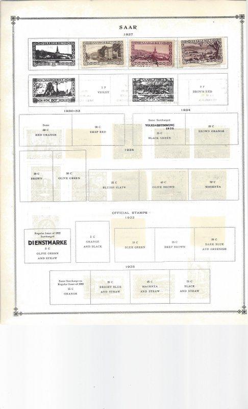Saar Salvador and San Marino on 17 Old Album Pages