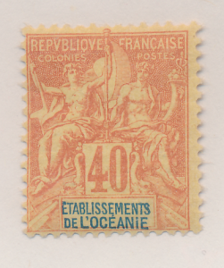 French Polynesia Stamp Scott #15, Mint Hinged - Free U.S. Shipping, Free Worl...