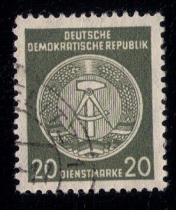 German Democratic Republic Official 1956 VAR, MI 32y Fiber Paper Used,No Gum  VF