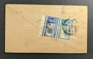 1939 Chandni Chowk Delhi India Airmail Cover to Akron Ohio USA