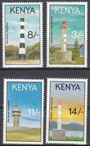 Kenya, Sc 587-590, MNH, 1993, Lighthouses
