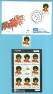 2019 Angela Davis Black American political woman activist Uruguay Stamp +FDC+s/s