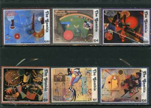 GAMBIA 2003 PAINTINGS BY WASSILY KANDINSKY 6 STAMPS MNH