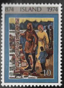 Iceland Scott 461 MNH** Icelandiic Art from 1974 set