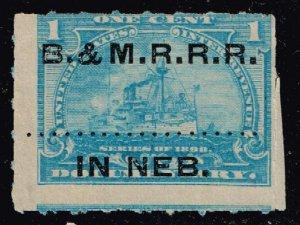 USA STAMP REVENUE BOB  #R163 1C 1898 B. N. M. R.R.R. NEB. CANCEL STAMP