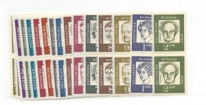 Germany, 824-39, Portraits Definitive Pairs, MNH
