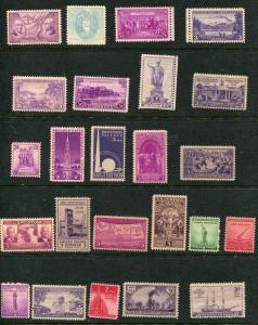 1930's COMMEMORATIVE SELECTION #795 // 923 Mint ognh 24 Different