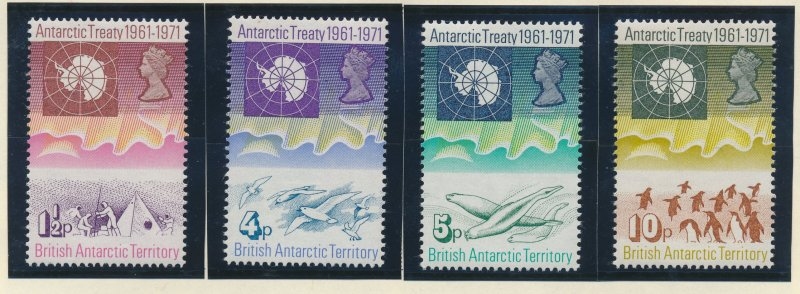 British Antarctic Territory (B.A.T.) Stamps Scott #39 To 42, Mint Never Hinge...