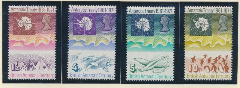 British Antarctic Territory (B.A.T.) Stamps Scott #39 To 42, Mint Never Hinge...