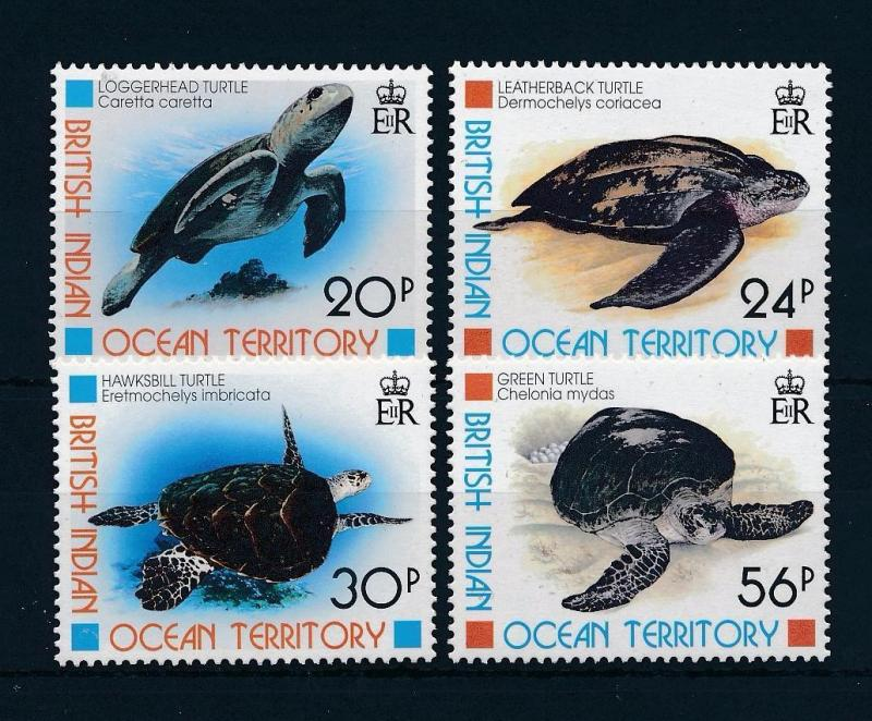 [52466] British Indian Ocean Territory 1996 Marine life Turtles MNH
