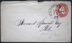 Cover - Beautiful Cancel Carbondale Pa to Philadelphia   S734