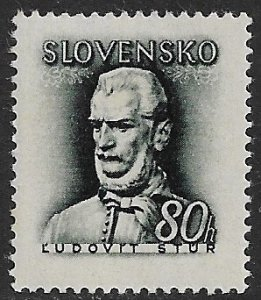 SLOVAKIA 1944 80h Ludovit Stur Portrait Issue Sc 93 MNH