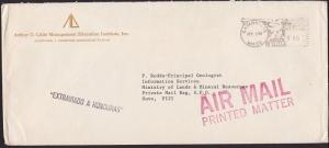 USA to FIJI 1982 cover which has been MISSENT TO HONDURAS...................5966