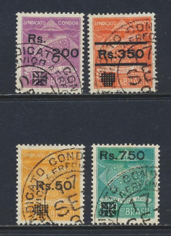 BRAZIL 1930 CONDOR AIR SET, VF USED Sc#1CL10-13 CAT$155 (SEE BELOW)