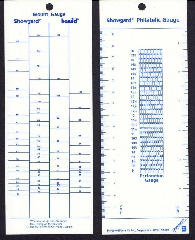 Showgard What Size?  Gauge Measure Mount Size, Perf Gauge, Metric & Inch Rulers