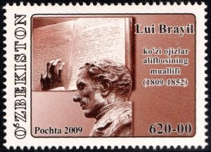 2009 Uzbekistan 804 200th anniversary of the birth of Louis Braille 2,00 €