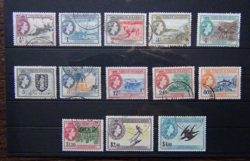 British Virgin Islands 1956 - 1962 set to $4.80 Used SG149 - SG161