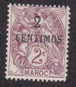 French Morocco # 12, Surcharged Stamp, Hinged, 1/3 Cat