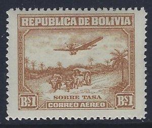 Bolivia, Scott #C32; 1b Airplane and River Boat, MNH