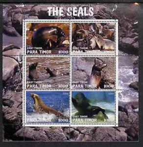Timor (East) 2000 The Seals #2 perf sheetlet containing 6...