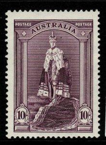 AUSTRALIA SG177 1938 10/= DULL PURPLE MNH