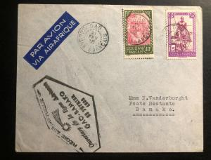 1938 Gad French Sudan Airmail First Flight Cover FFC to Bamako