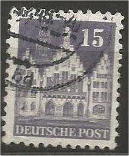 GERMANY, 1948, used 15pf violet, Frankfurt Scott 643