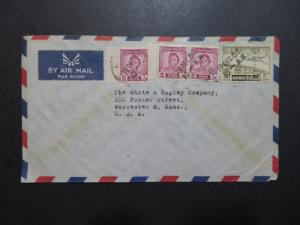 Iraq 1953 Commercial Cover to USA (III) - Z8605