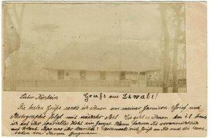 German East Africa 1901 Kilwa cancel on homemade real photo postal card