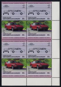 St Vincent Grenadines Union Is 144 BR Block Specimen o/p MNH Car, Datsun 240 Z