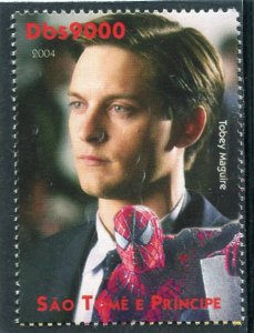 Sao Tome & Principe 2004 TOBEY MAGUIRE American Actor 1v Perforated Mint (NH)
