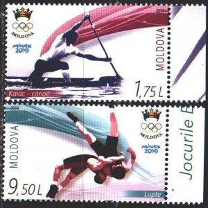 Moldova. 2019. 1103-4. Sports, wrestling. MNH.