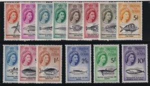 Tristan Da Cunha Sc #28-41 (1960) QEII Fish & Marine Life Set Mint VF NH