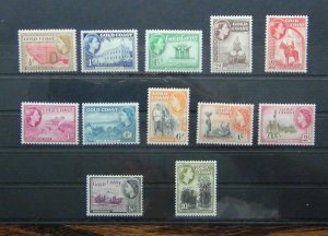 Gold Coast 1952 - 54 set to 10s MM SG153 - SG164